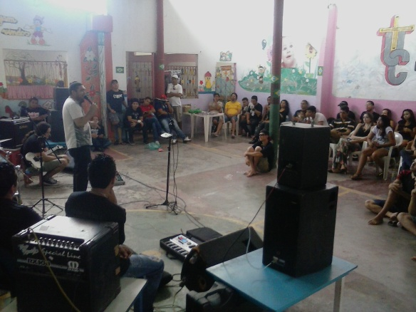 Momento da Pregação no Barulho Santo - Foto: Eder Machado