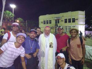 Dom José, Bispo Diocesano de Limoeiro do Norte, acolhe a Banda Luminus